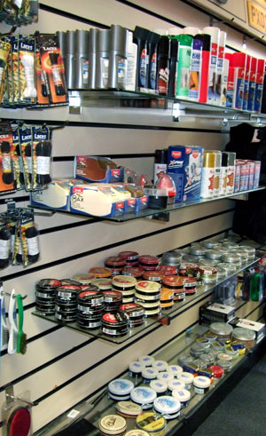 of shoe care products including shoe trees shoe horns and all types of